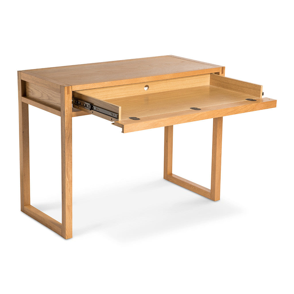 Kristof Scandinavian Wooden Oak Home Office Desk INTERIOR SECRETS DT910-VN Agni Scandinavian Studio Desk - Natural LIFE INTERIORS Aspen Desk