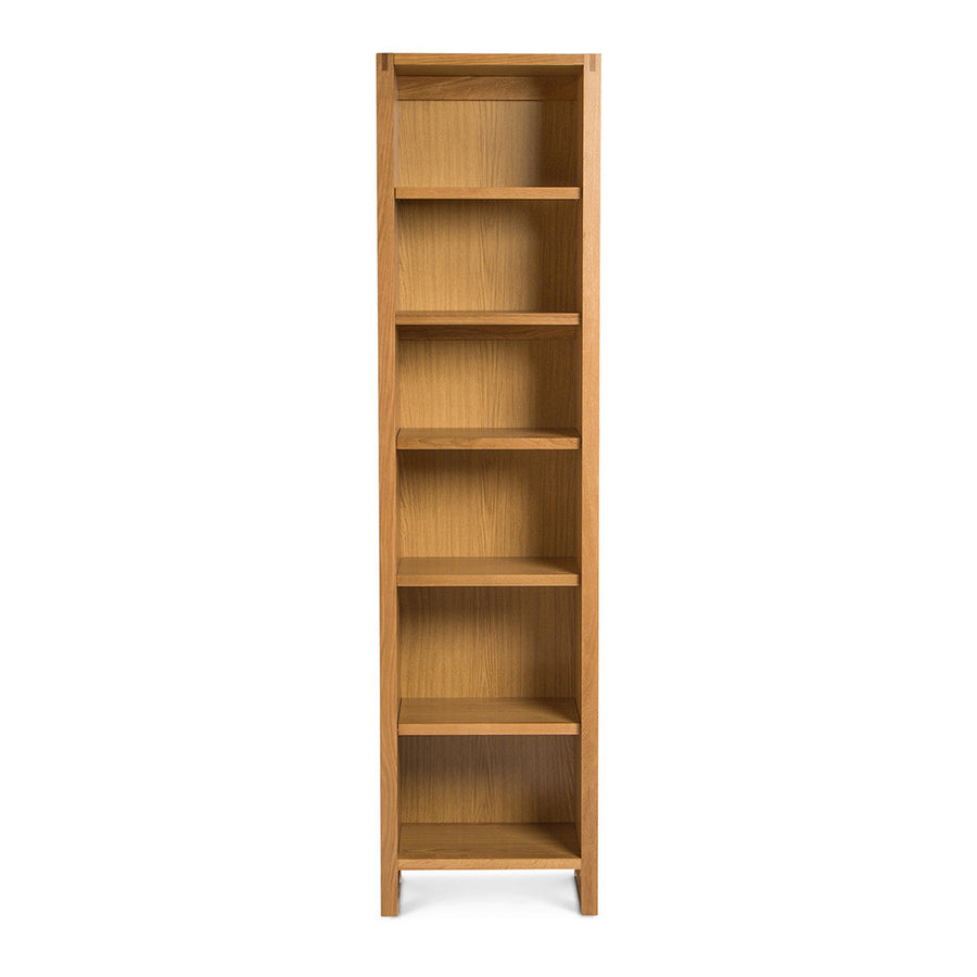 Kristof Scandinavian Wooden Oak Narrow Bookcase / Bookshelf
