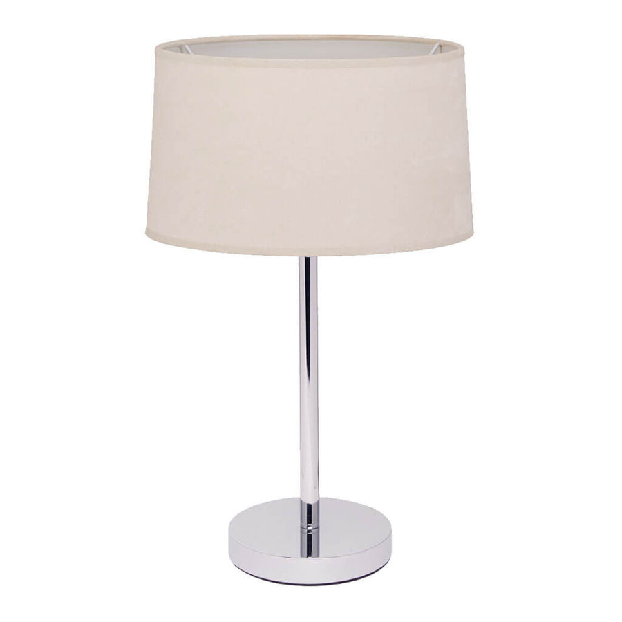 Lighting Cafe Lighting & Living Table Lamp with Faux Suede Shade 61421