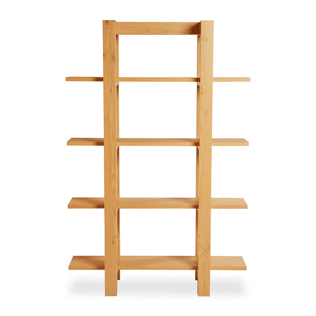 Lukas Scandinavian Rustic Wooden Oak Bookshelf / Display Shelf