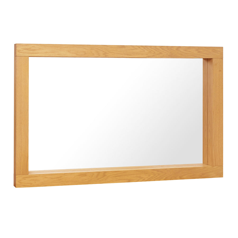 Lukas Scandinavian Rustic Wooden Oak Wall Mirror