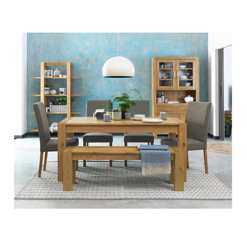 Lukas Rustic Wooden Oak Extendable 6 8 Seater Dining Table The Design Edit