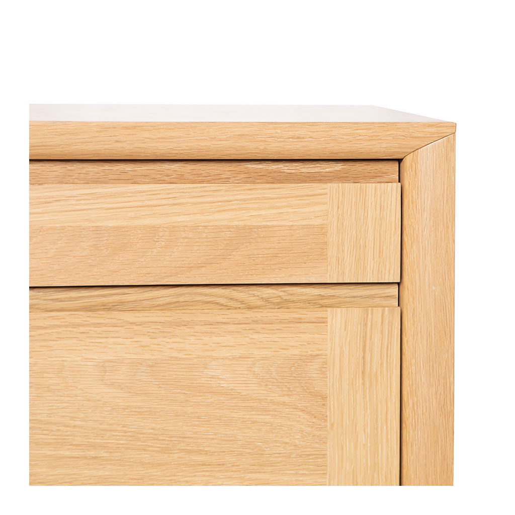 Mabel Country Style Scandinavian Wooden Oak Home Office Filing Cabinet