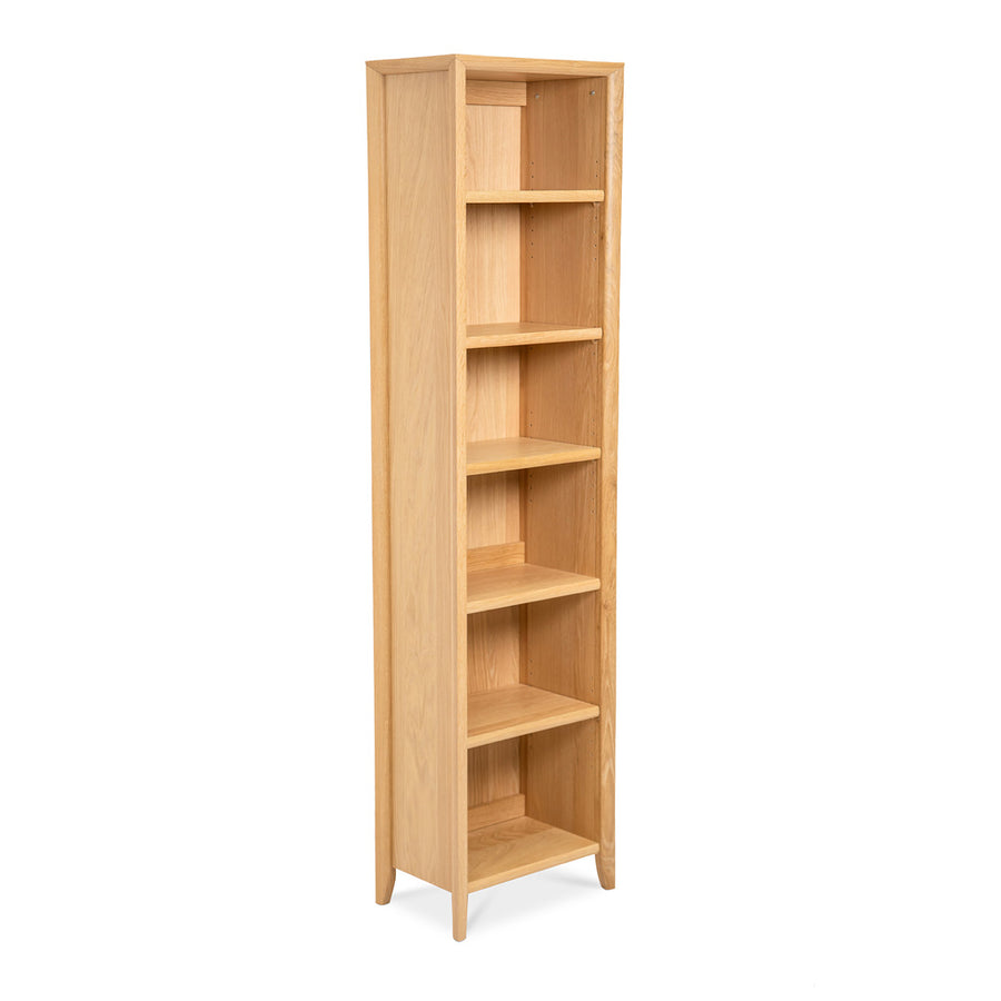 Mabel Country Style Scandinavian Wooden Oak Narrow Bookcase / Bookshelf