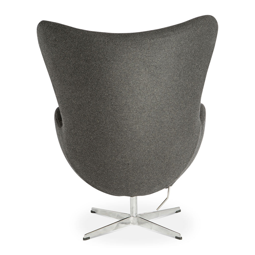Delicieux Mid Century Modern Replica Arne Jacobsen Cashmere Egg Chair In Dark Grey