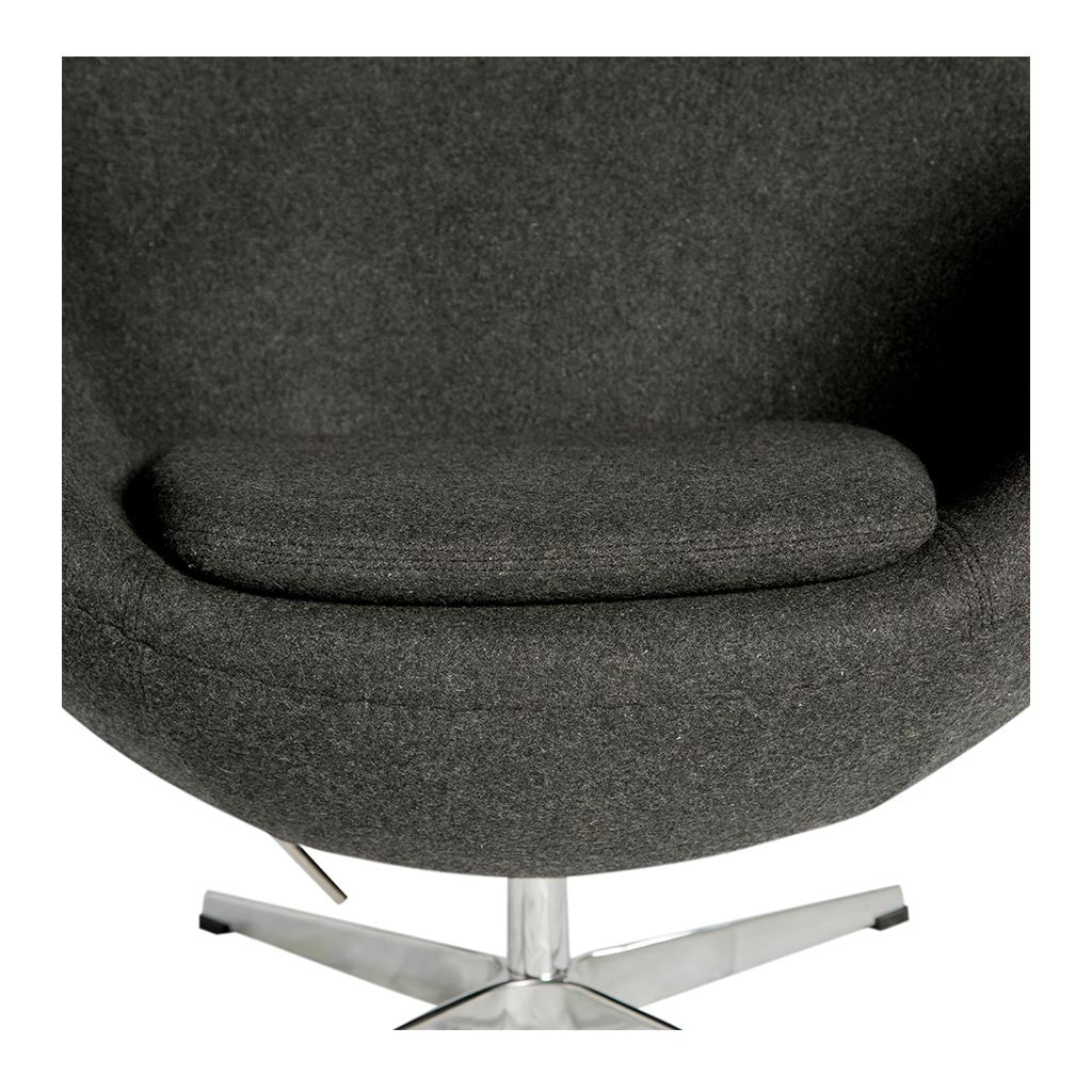 Arne jacobsen egg chair replica charcoal the design edit for Jacobsen replica
