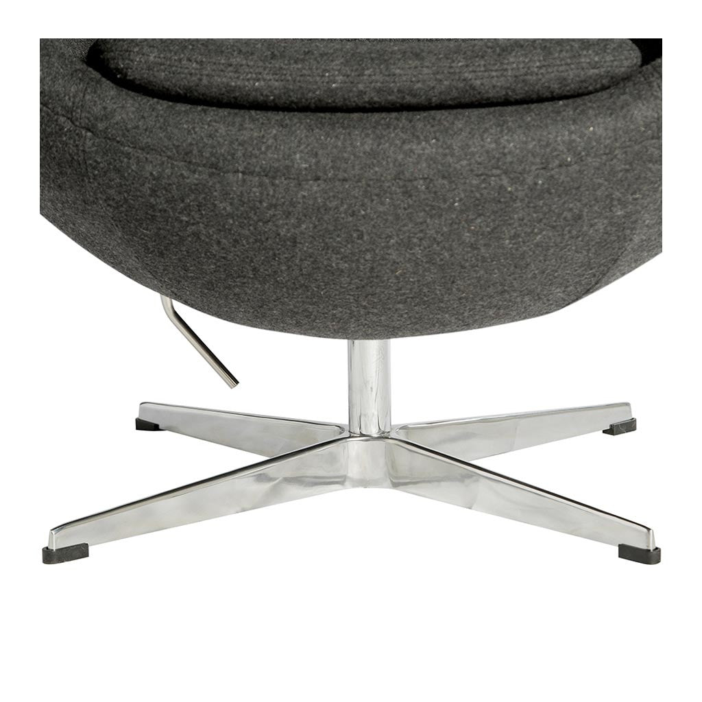 Arne jacobsen egg chair replica charcoal the design edit for Arne jacobsen replica