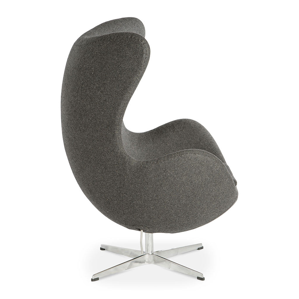 Arne jacobsen egg chair replica charcoal the design edit for Egg chair replica schweiz