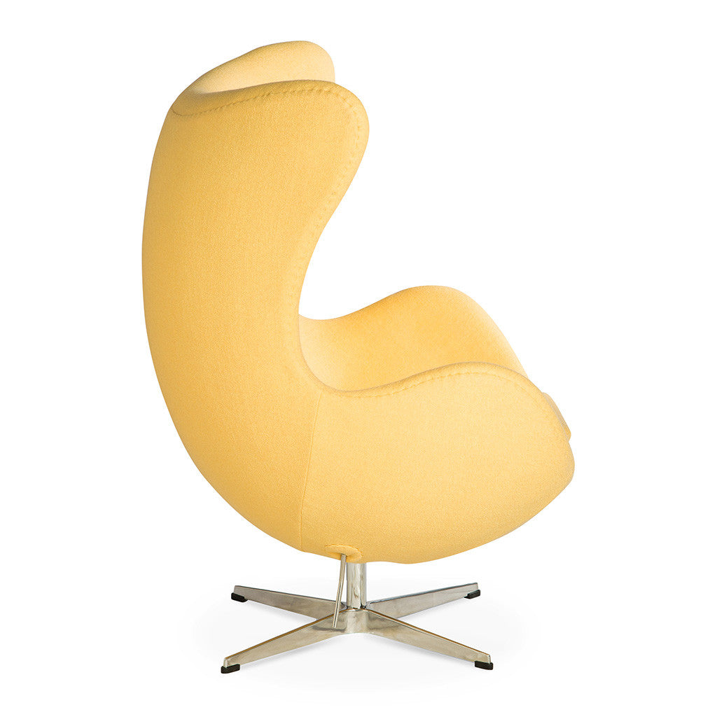 arne jacobsen egg chair replica yellow the design edit. Black Bedroom Furniture Sets. Home Design Ideas