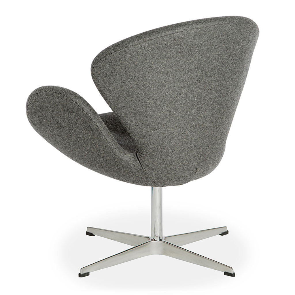 Arne jacobsen swan chair replica smoke grey the design edit for Arne jacobsen stehlampe replica