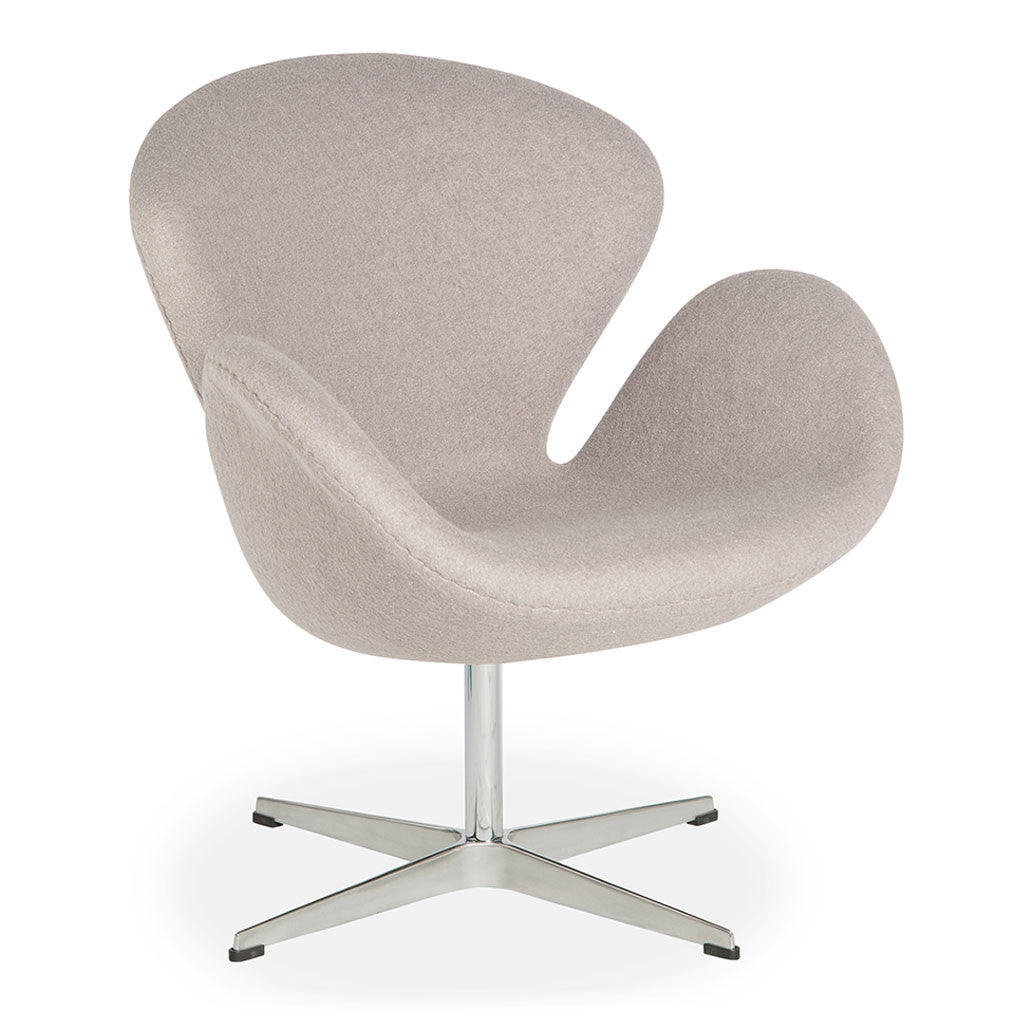 Arne jacobsen swan chair replica ash grey the design edit for Arne jacobsen stehlampe replica