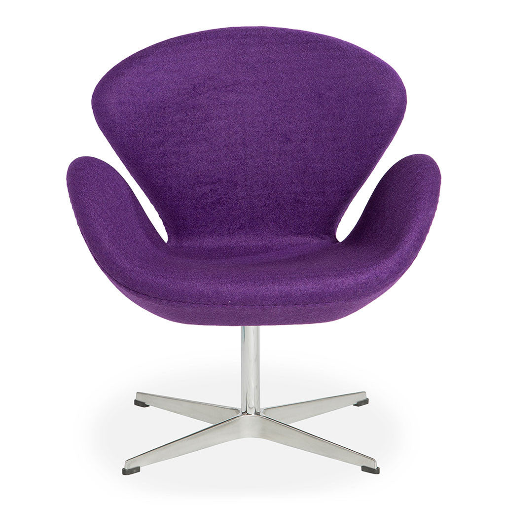 Arne jacobsen swan chair replica purple the design edit for Jacobsen replica