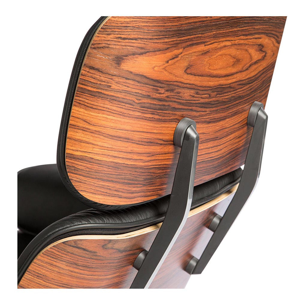 Eames lounge ottoman replica italian leather the for Charles ray eames reproduction