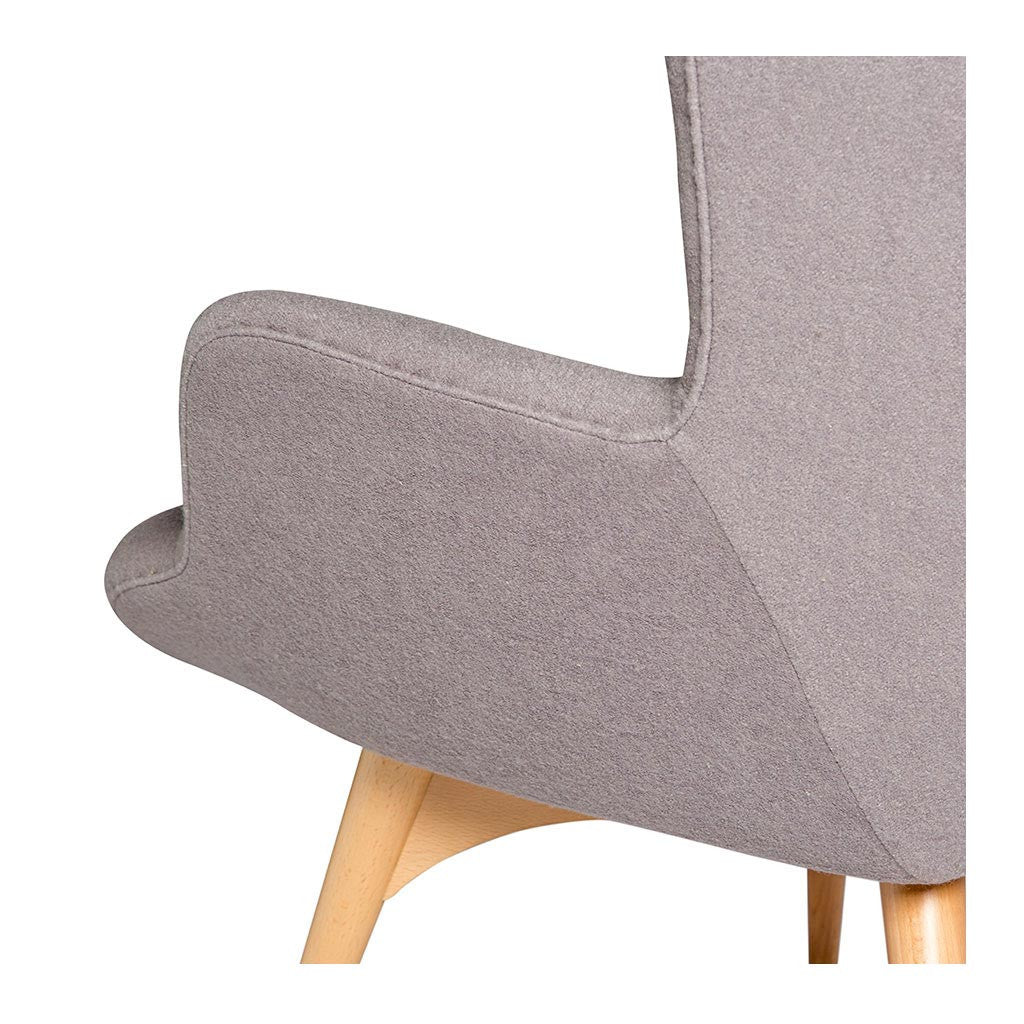 Featherston R160 Contour Chair + Ottoman Replica - Ash Grey