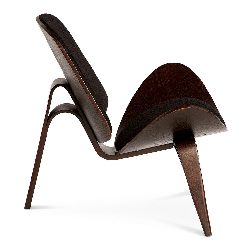 reproduction oak hans the wegner modern shell chair products eei source blk