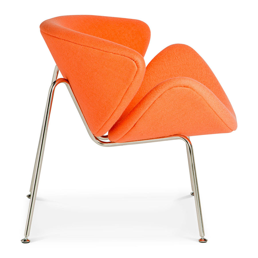 Mid Century Modern Replica Pierre Paulin Cashmere Orange Slice Chair in Orange