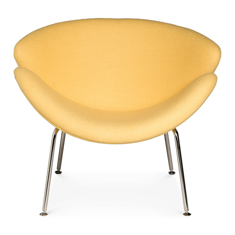 Mid Century Modern Replica Pierre Paulin Cashmere Orange Slice Chair in Yellow