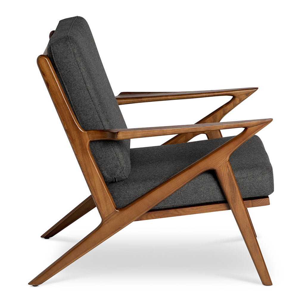 Selig z chair replica charcoal the design edit for Danish modern reproduction