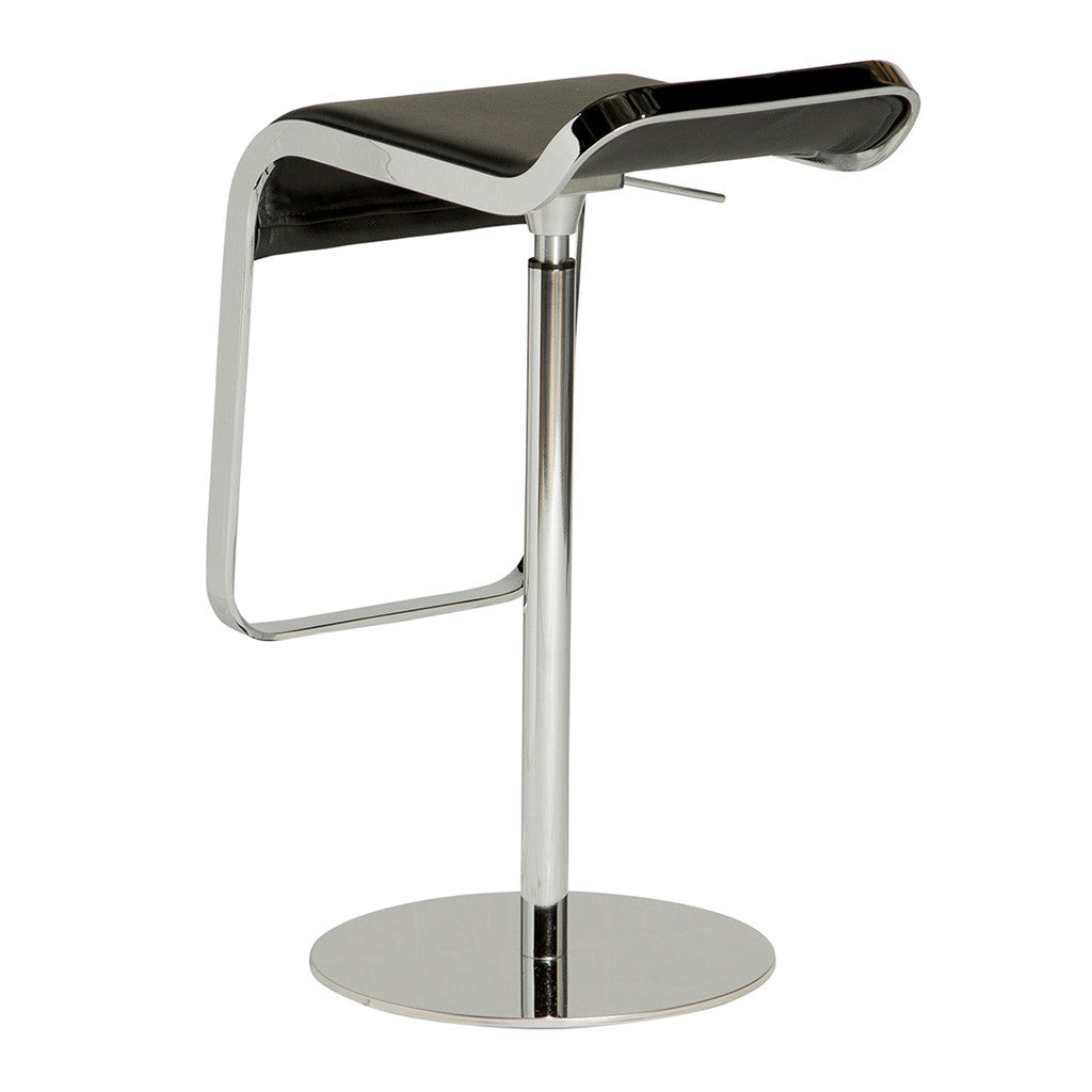 Modern Replica Shin and Tomoko Azumi Leather LEM Piston Bar Stool in Black