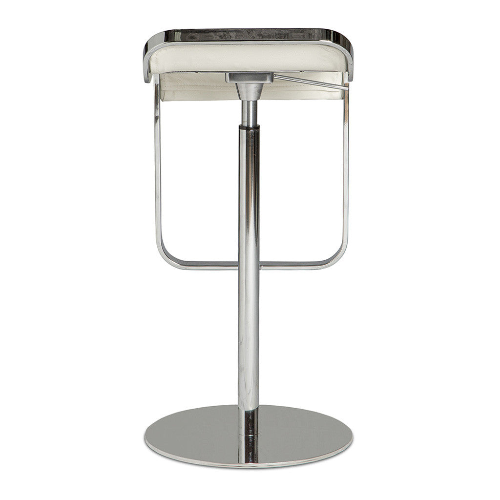 Modern Replica Shin and Tomoko Azumi Leather LEM Piston Bar Stool in White