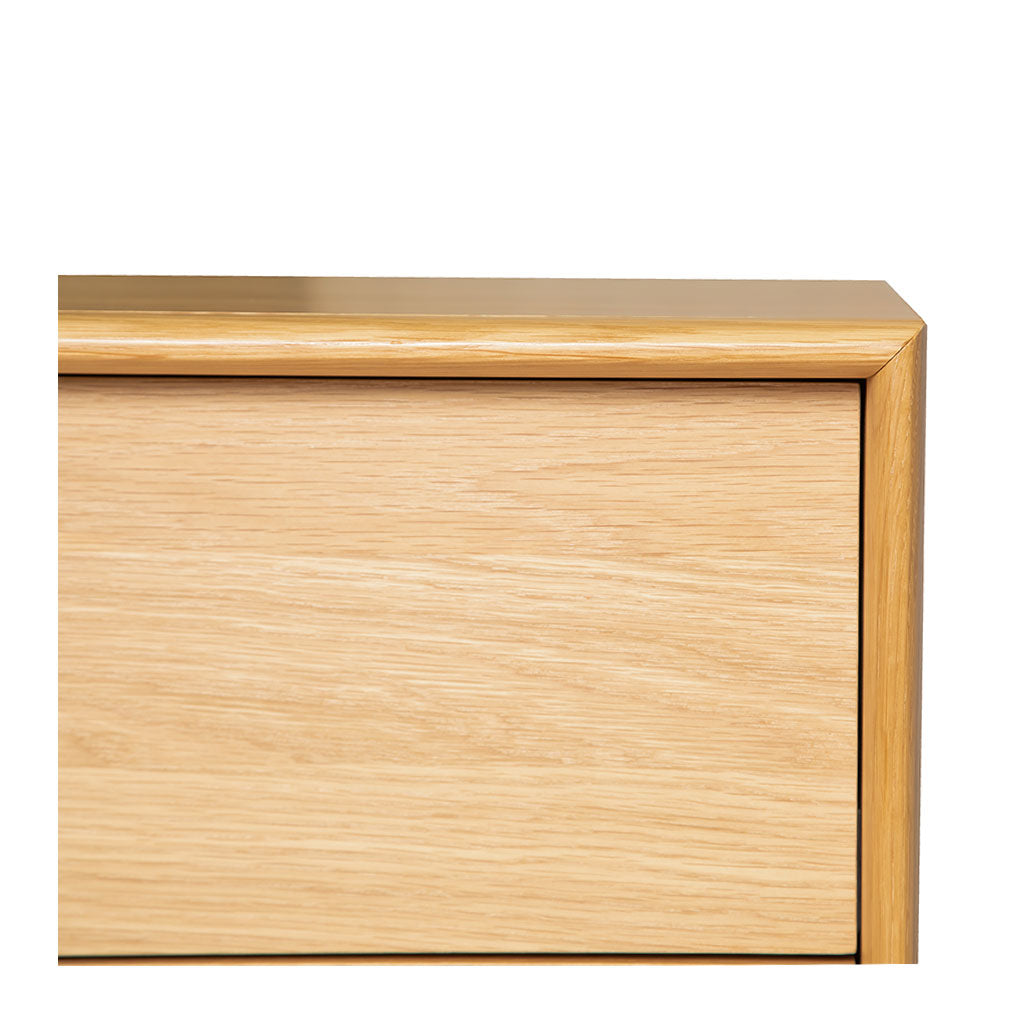 Natsumi Japanese Scandinavian Wooden Oak 6 Drawer Wide Chest of Drawers, LIFE INTERIORS Koto Chest of 6 Drawers (Oak)