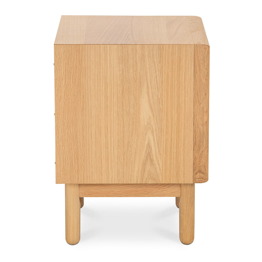 Natsumi Japanese Scandinavian Wooden Oak Bedside Table with 2 Drawers INTERIOR SECRETS  ST2324-VN Kenston 2 Drawer Side Table - Oak, LIFE INTERIORS Koto Bedside Table with 2 Drawers (Oak)