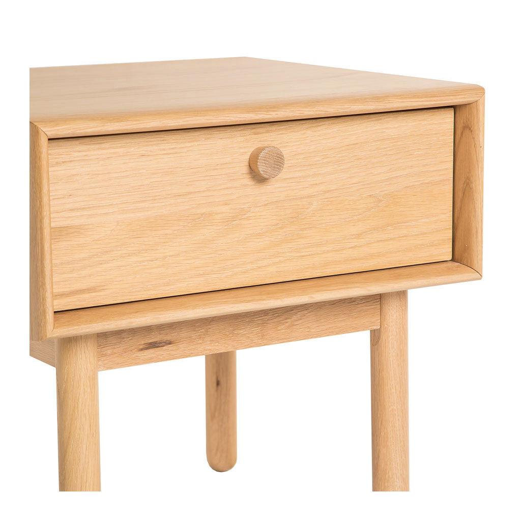 Natsumi Japanese Scandinavian Wooden Oak Bedside Table with Drawer BROSA STBKAN06OAK Kaneko Lamp Table With Drawer, INTERIOR SECRETS  ST370-VN Kenston Lamp side table with drawer - Natural, LIFE INTERIORS Koto Side Table with Drawer, TEMPLE AND WEBSTER CUDI1845 Oak Talitha Bedside Table with Drawer