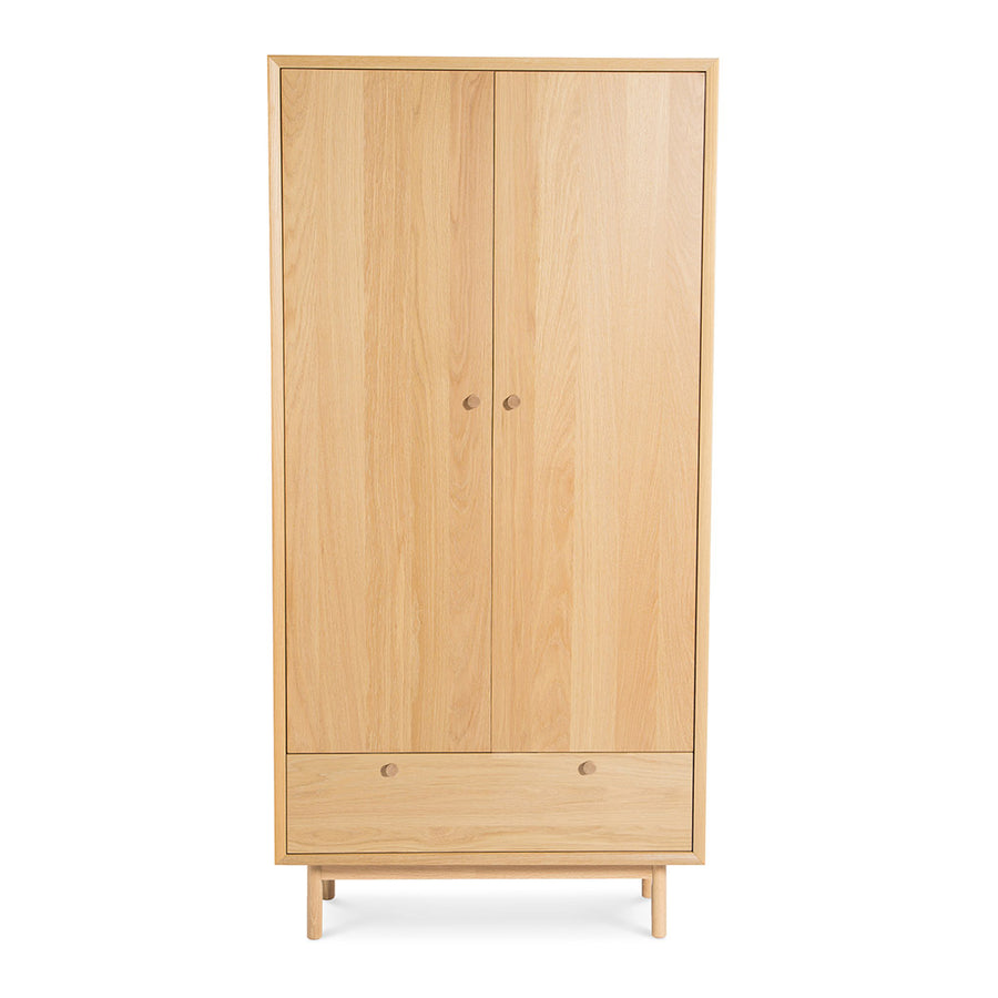 Natsumi Japanese Scandinavian Wooden Oak Double Wardrobe LIFE INTERIORS Koto Double Wardrobe
