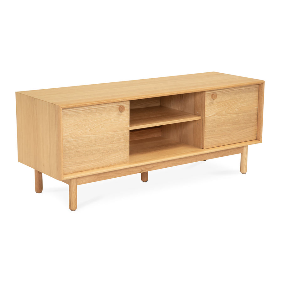 Natsumi Japanese Scandinavian Wooden Oak Entertainment Unit, LIFE INTERIORS Koto Entertainment Unit (Oak, Small)
