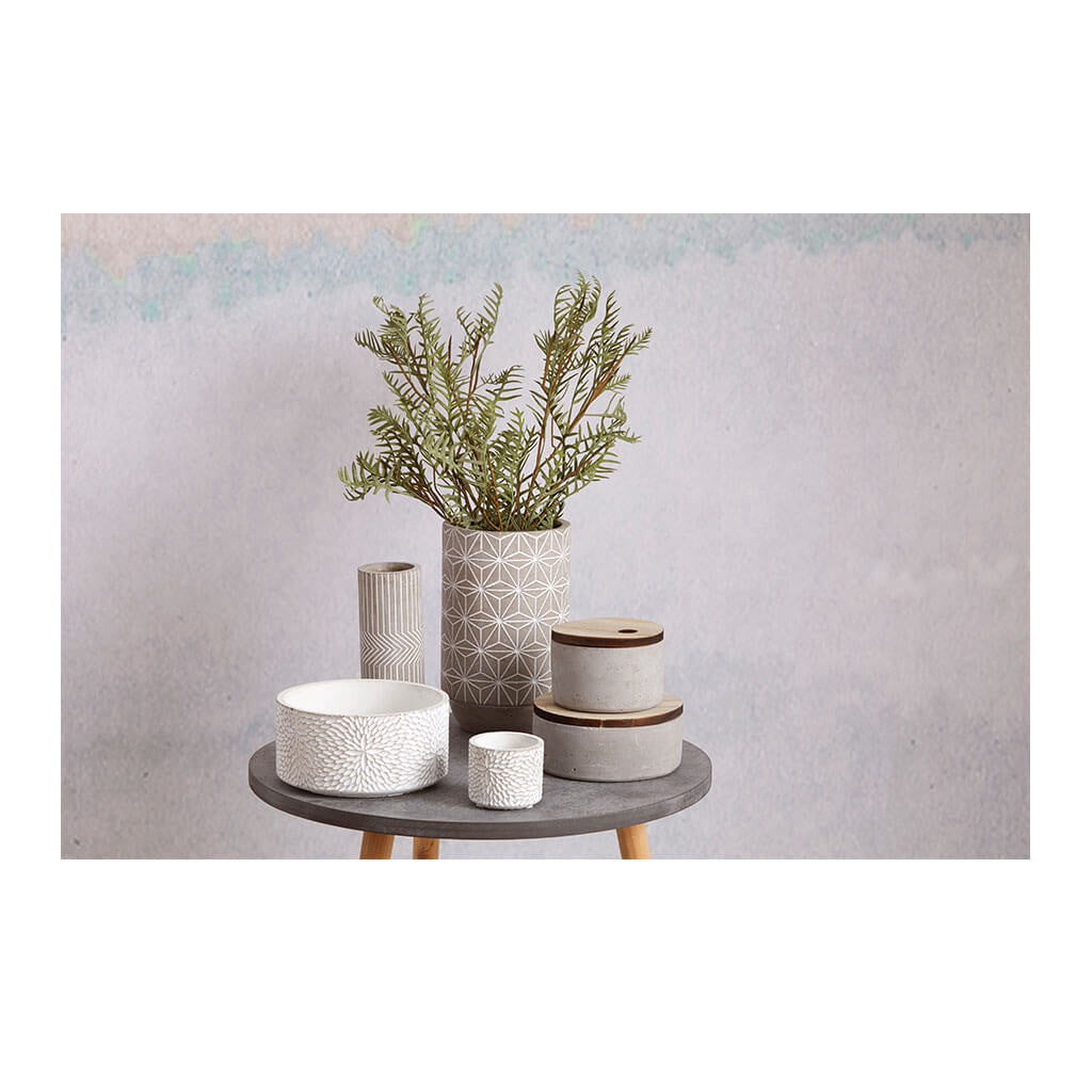 Other Decor Emporium Metro Concrete Canister, Wide HDDEE378 lifestyle