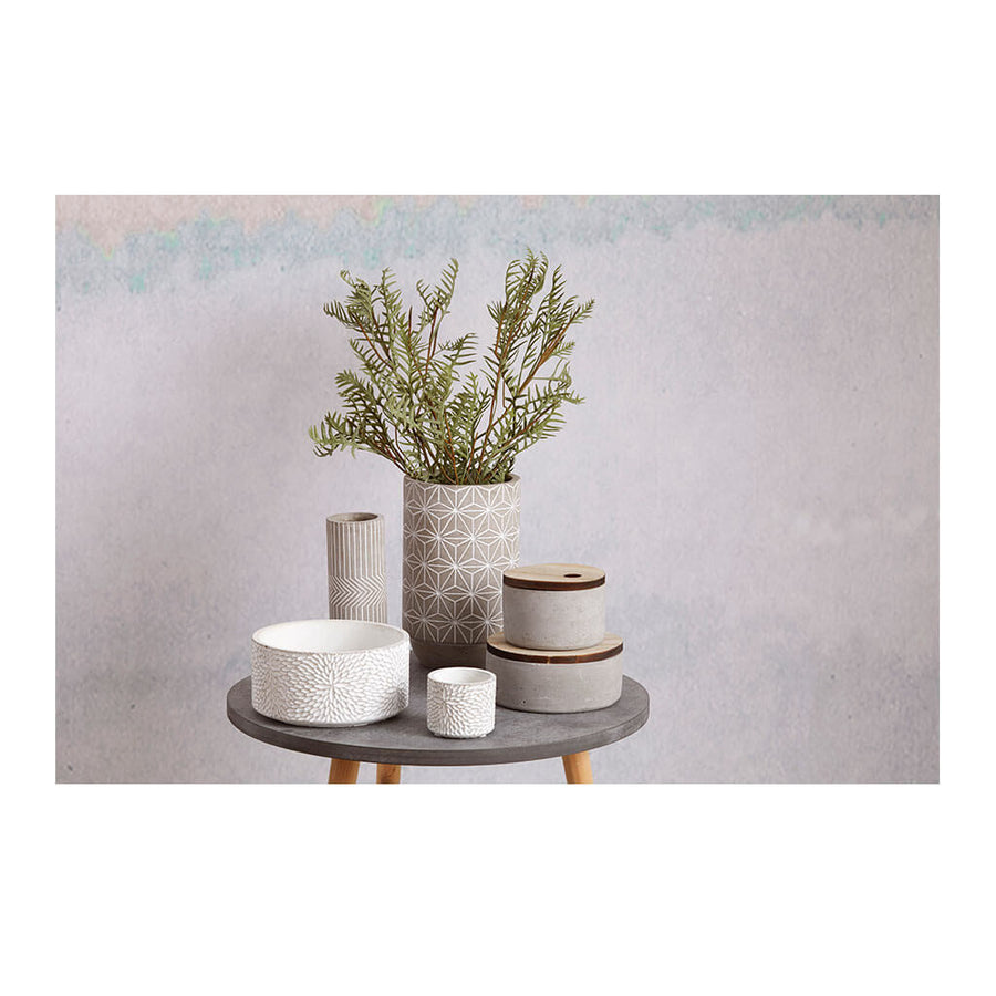 Other Decor Emporium Metro Concrete Canister, Wide HDDEE378