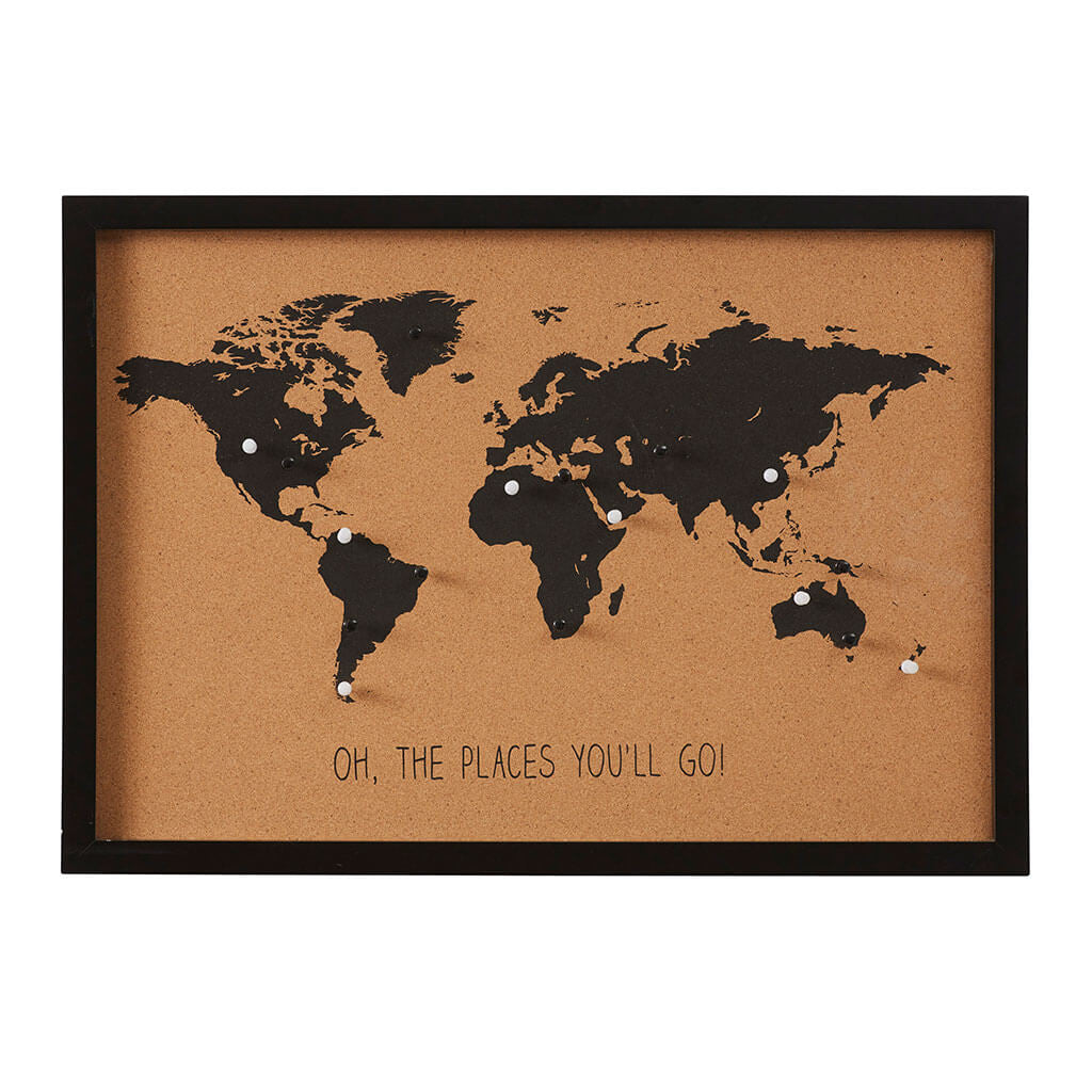 World Map Cork Board + Pins – The Design Edit