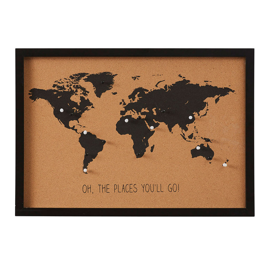Wall art clocks mirrors online the design edit tagged cork other decor emporium world map cork board pins hddee023 gumiabroncs Image collections