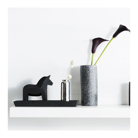 Concrete Dala Horse - Black by Zakkia