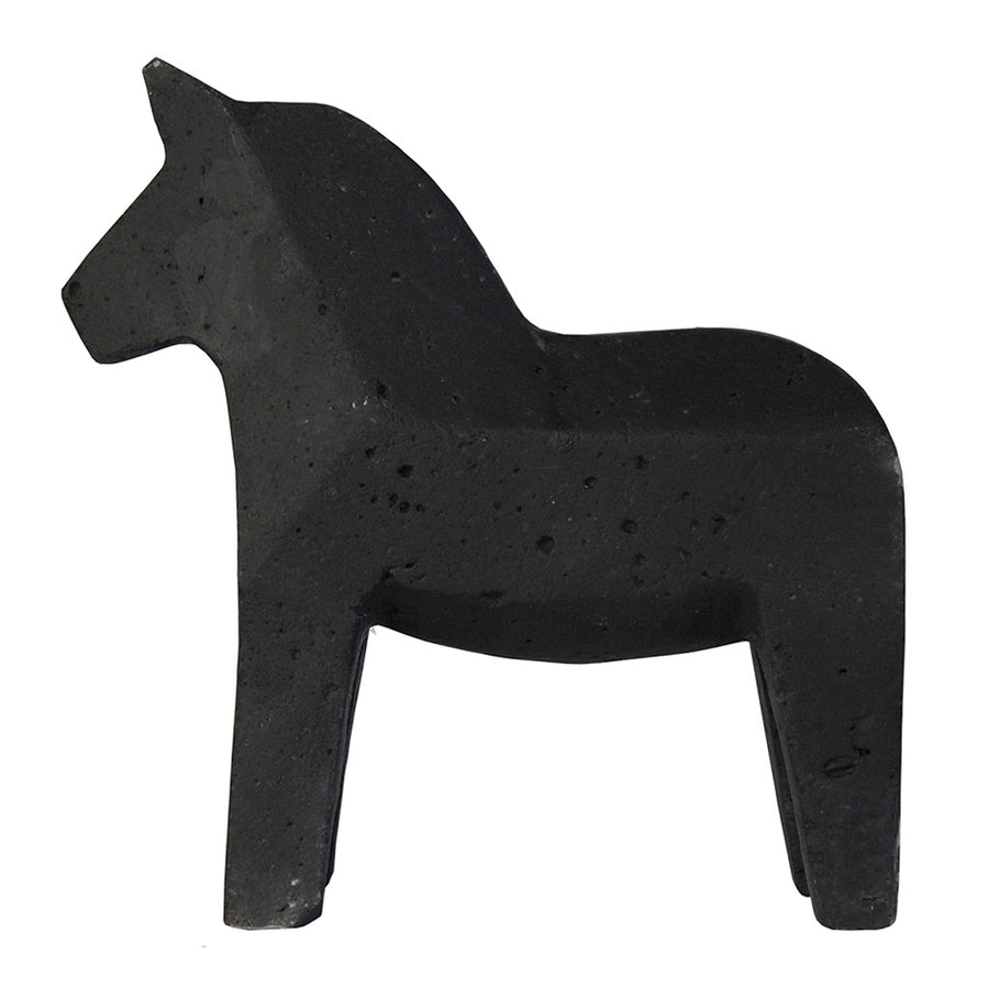 Other décor Zakkia Concrete Dala Horse - Black 01-003-N-BLA
