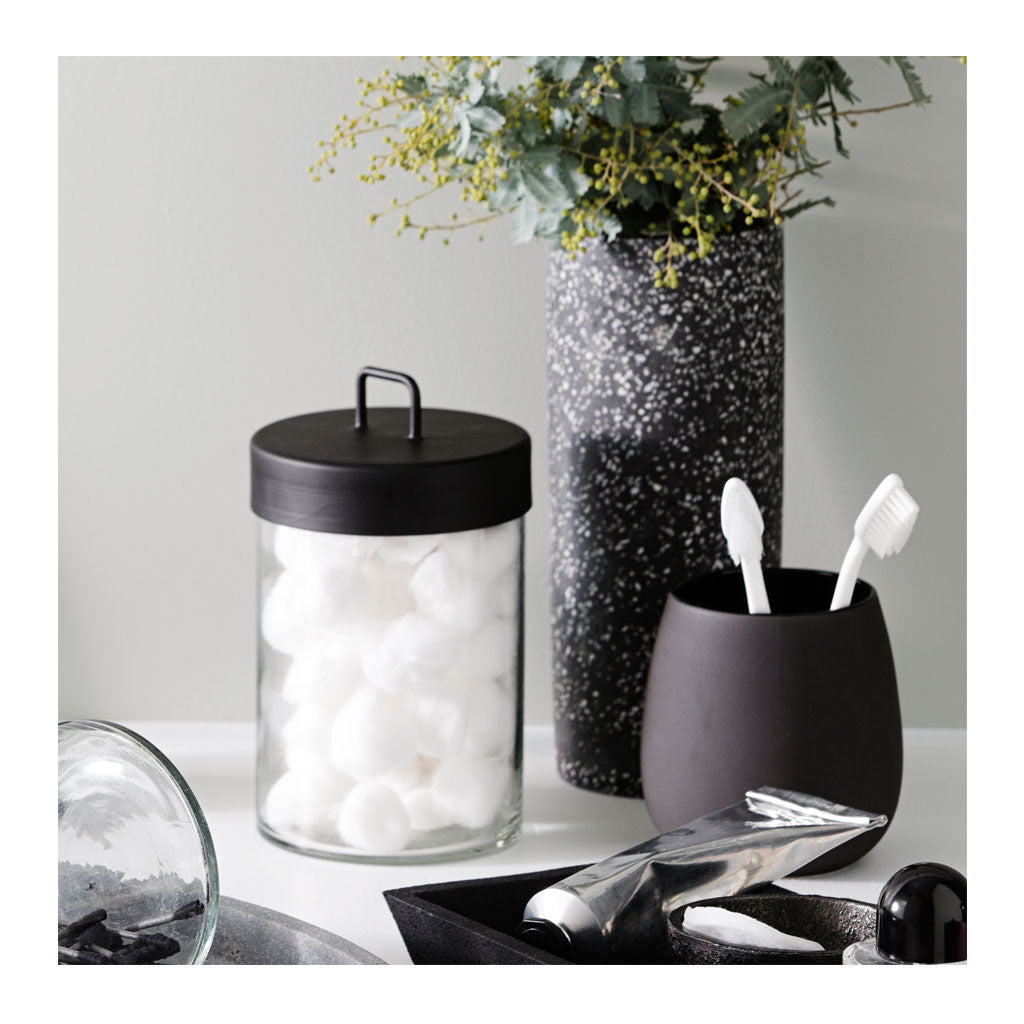 Other décor Zakkia Glass Jar - Large Black 160208001LBLK lifestyle