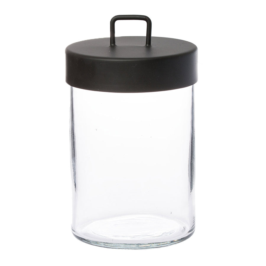 Other décor Zakkia Glass Jar - Large Black 160208001LBLK