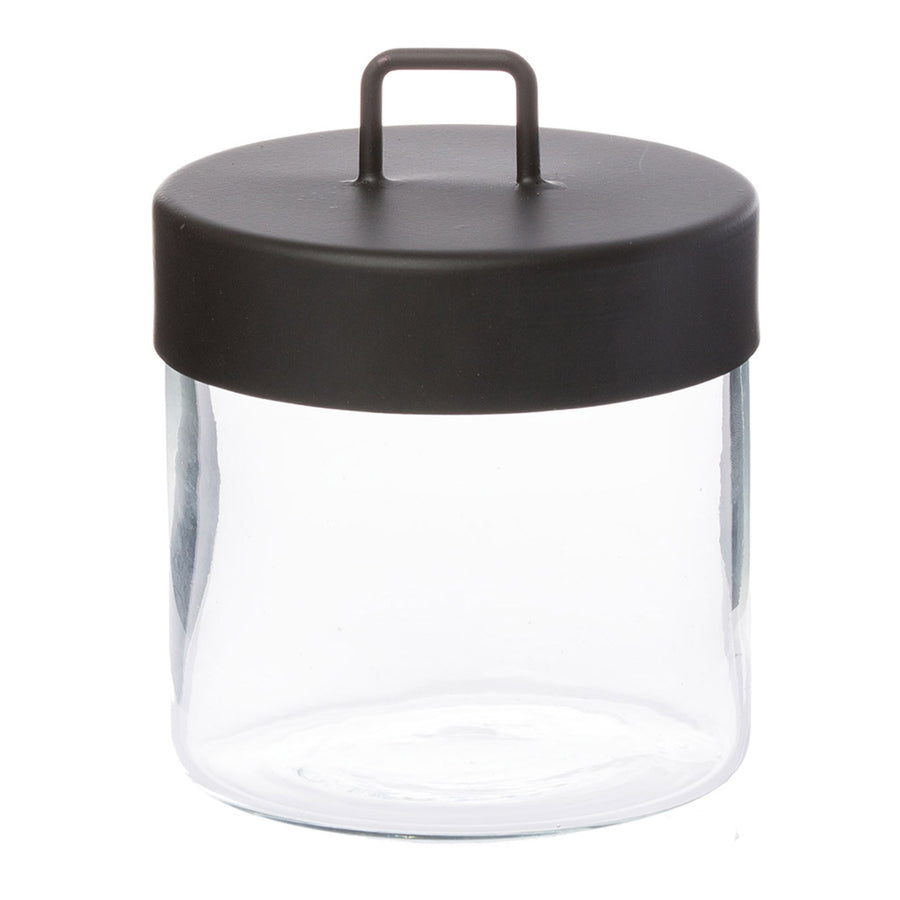 Other décor Zakkia Glass Jar - Medium Black  160208001MBLK