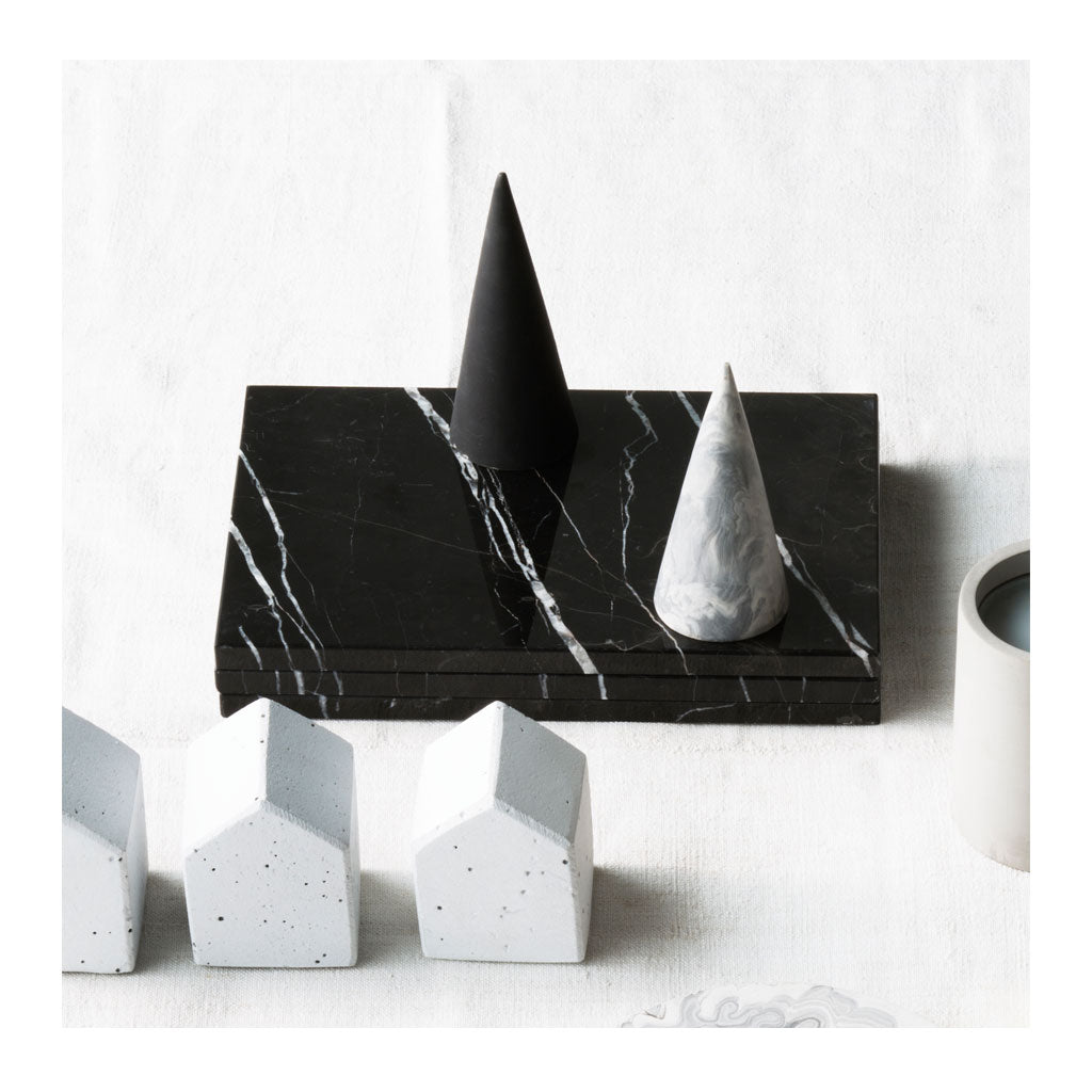 Other décor Zakkia Small Concrete Cone - Ink 01-028-S-INK lifestyle