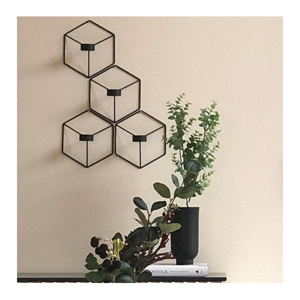 Candle Holders Menu POV Wall Candle Holder - Black 4766539