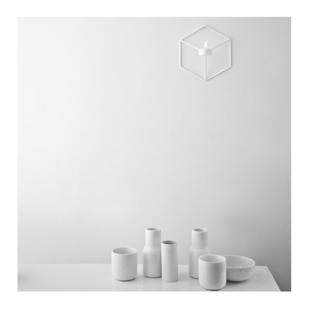 andle Holders Menu POV Wall Candle Holder - White 4766639
