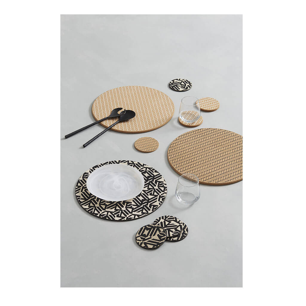 Placemats Amalfi Moore Cork Placemat, Black FIPM 10BK lifestyle