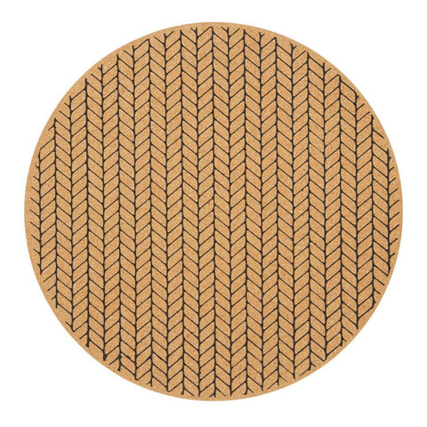 Moore Cork Placemat in Black by Amalfi