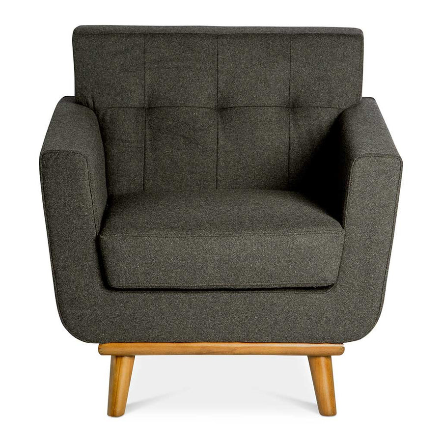 Retro Scandinavian Sven Cashmere Armchair in Dark Grey