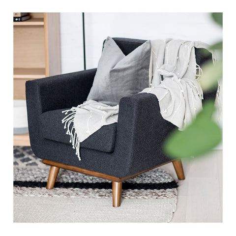 Sven Armchair in Charcoal