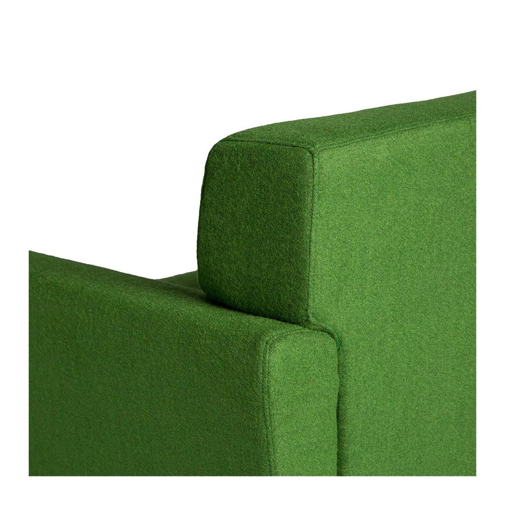 Retro Scandinavian Sven Cashmere Armchair in Green