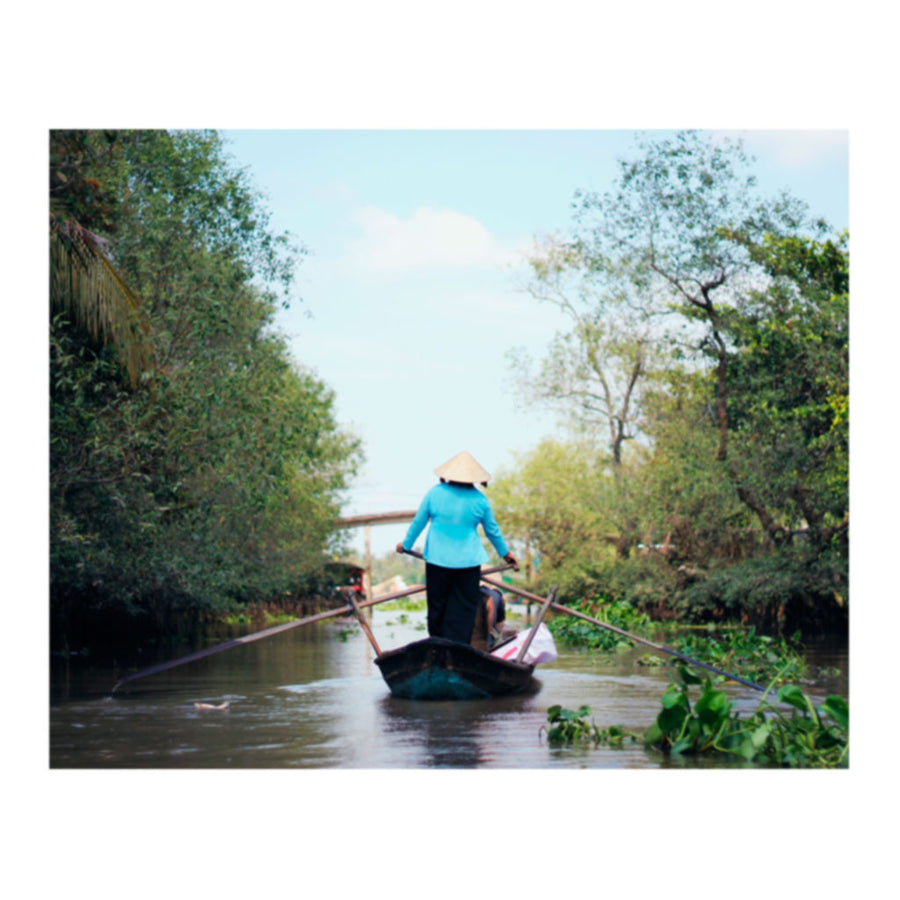 Row Reignbow Vietnamese Canoe Photo Print