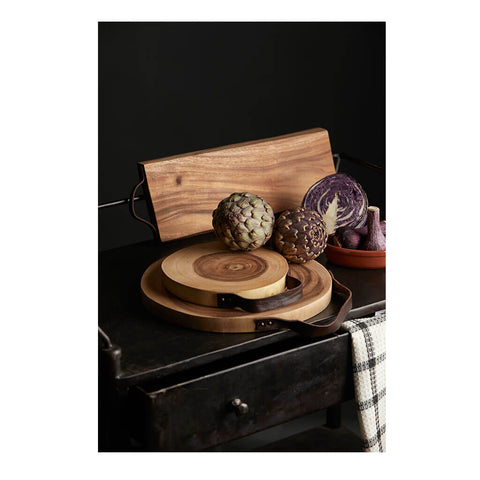 Harvest Acacia Wood Round Board by Davis & Waddell