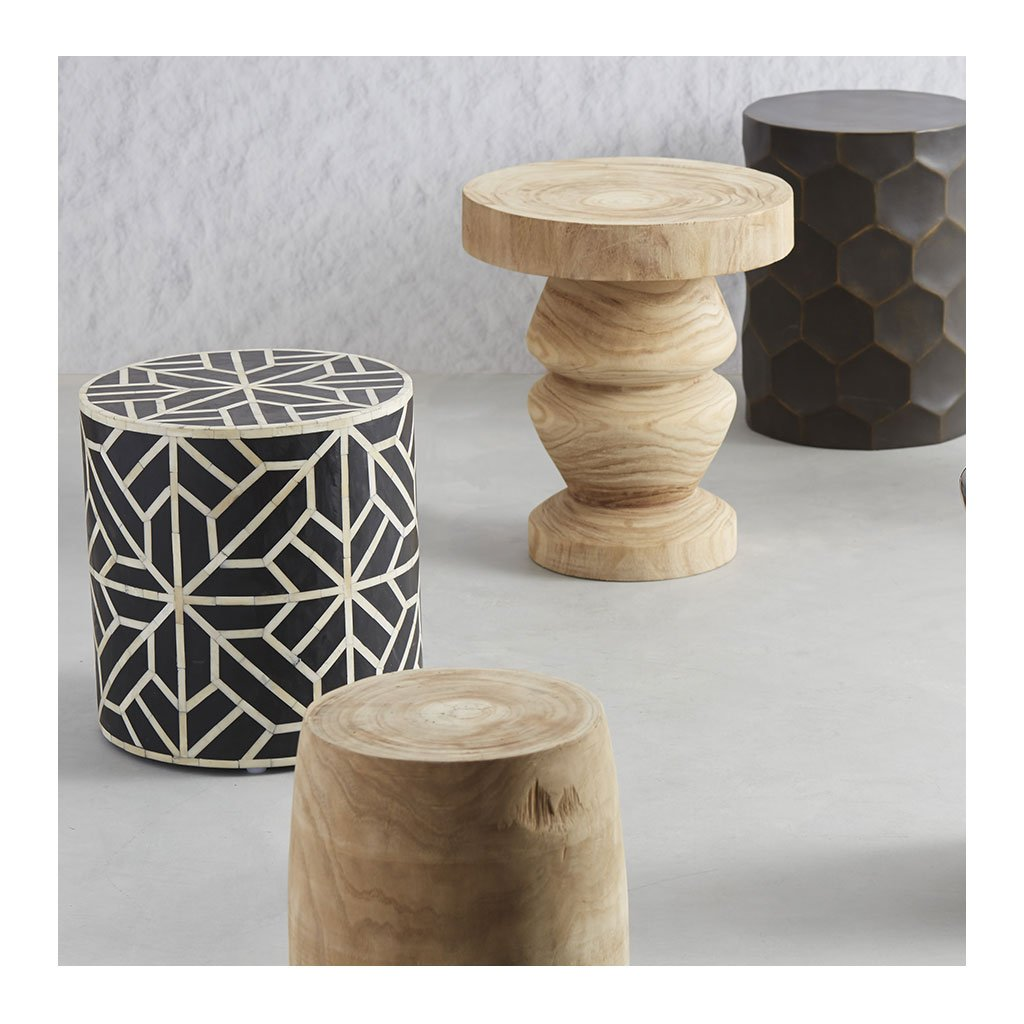 Side Tables Amalfi Arlo Wooden Stool / Side Table EOSL 01