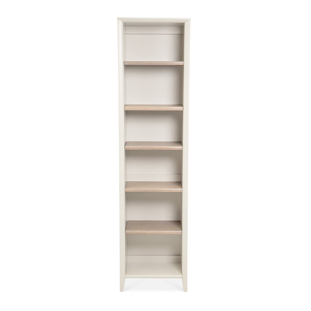 Sienna French Provincial Wooden Oak Narrow Bookcase / Bookshelf